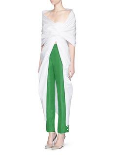 Rosie Assoulin'Pretzel' open waist cotton poplin top