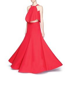 Rosie Assoulin 'Gramophone' crepe set flare skirt