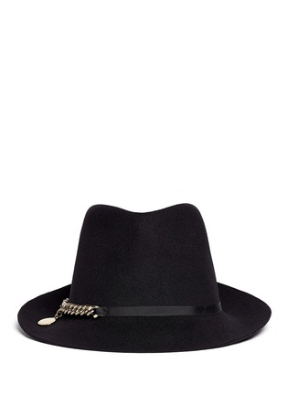 Main View - Click To Enlarge - Stella McCartney - Curb chain wool felt panama hat