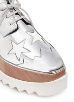 星星拼贴坡跟系带鞋