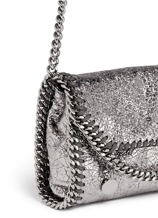 Detail View - Click To Enlarge - Stella McCartney - 'Falabella' mini metallic crossbody bag