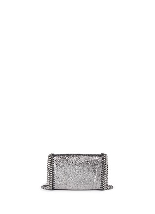 Back View - Click To Enlarge - Stella McCartney - 'Falabella' mini metallic crossbody bag
