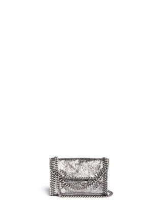 Main View - Click To Enlarge - Stella McCartney - 'Falabella' mini metallic crossbody bag