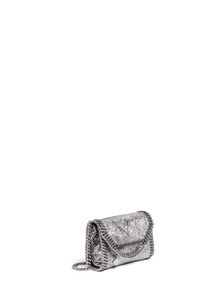 Figure View - Click To Enlarge - Stella McCartney - 'Falabella' mini metallic crossbody bag
