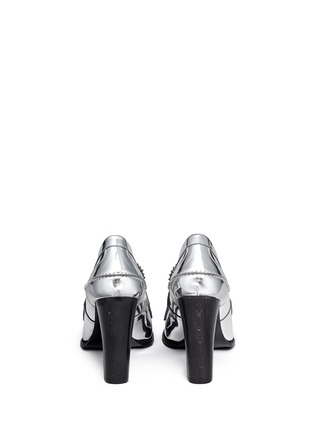 Back View - Click To Enlarge - Stella McCartney - 'Hackney' mirror eco leather block heel loafers