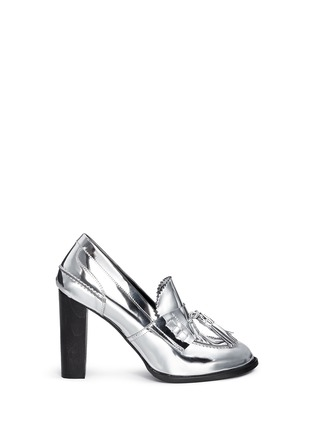Main View - Click To Enlarge - Stella McCartney - 'Hackney' mirror eco leather block heel loafers