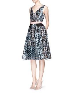 PETER PILOTTO'Circle' pinball print waffle crepe dress