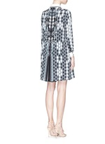 'Ace' digital pinball print silk shirt dress