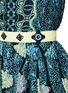 Detail View - Click To Enlarge - Peter Pilotto - 'Kinetic' atom jacquard strapless flare dress