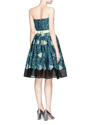 Back View - Click To Enlarge - Peter Pilotto - 'Kinetic' atom jacquard strapless flare dress