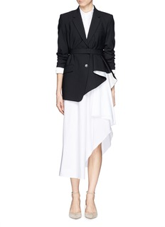 THEORY 'Jester' asymmetric pleat hem jacket