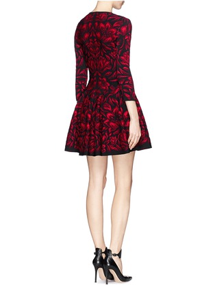 Back View - Click To Enlarge - Alexander McQueen - Mosaic tulip jacquard knit dress