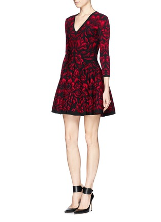 Figure View - Click To Enlarge - Alexander McQueen - Mosaic tulip jacquard knit dress