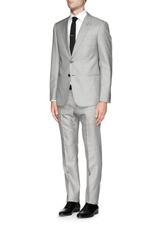 Armani Collezioni Virgin wool-silk houndstooth suit