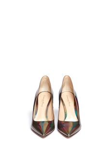 GIANVITO ROSSI Hologram leather pumps