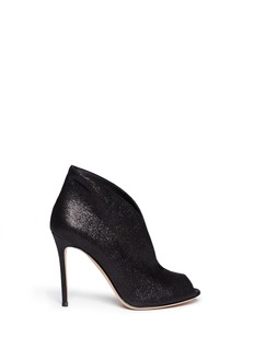 GIANVITO ROSSI V-throat cracked leather booties