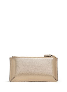 ANYA HINDMARCH 'Expense' large metallic leather pouch