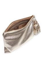 'Georgiana' tassel leather zip clutch
