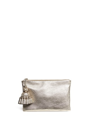 ANYA HINDMARCH - 'Georgiana' tassel leather zip clutch