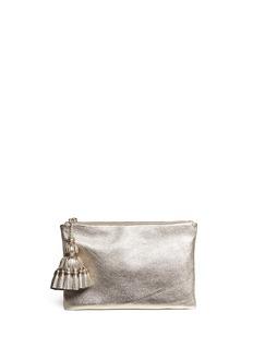 ANYA HINDMARCH'Georgiana' tassel leather zip clutch