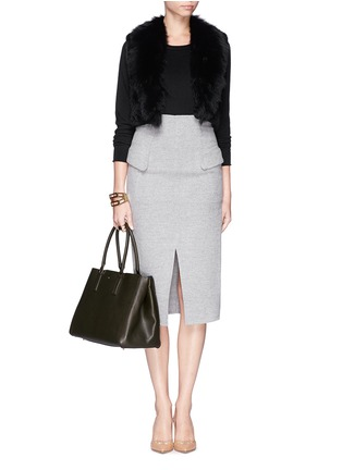 Figure View - Click To Enlarge - Anya Hindmarch - 'Ebury Large Featherweight' leather tote