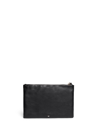 Back View - Click To Enlarge - Anya Hindmarch - 'Georgiana' tassel leather zip clutch