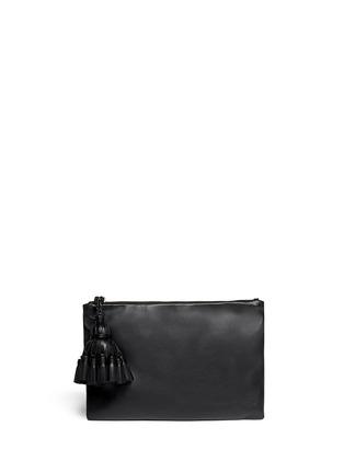 Main View - Click To Enlarge - Anya Hindmarch - 'Georgiana' tassel leather zip clutch