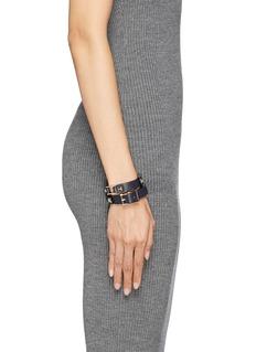 VALENTINO'Rockstud' double wrap leather bracelet