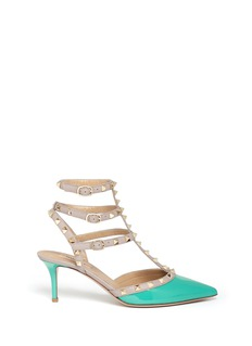 VALENTINO Rockstud caged leather pumps