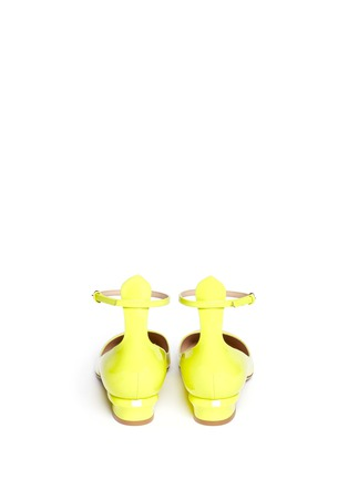 Back View - Click To Enlarge - Valentino - Patent leather ankle strap pumps