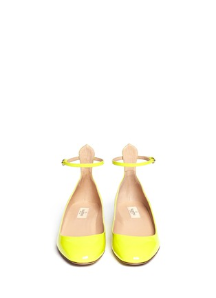 Figure View - Click To Enlarge - Valentino - Patent leather ankle strap pumps