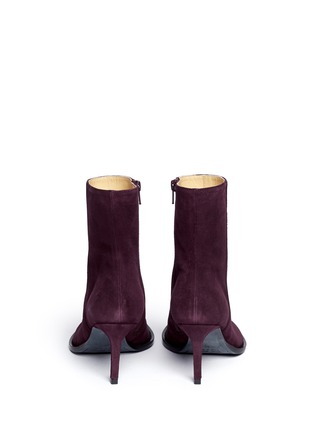 Back View - Click To Enlarge - ANN DEMEULEMEESTER - Suede ankle boots