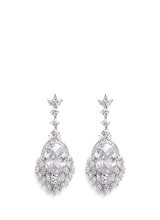 CZ by Kenneth Jay Lane Cubic zirconia dreamcatcher drop earrings