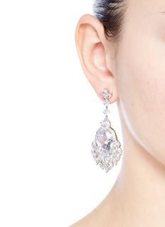 CZ by Kenneth Jay LaneCubic zirconia dreamcatcher drop earrings