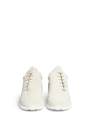 Front View - Click To Enlarge - Filling Pieces - 'Apache Runner' suede sneakers