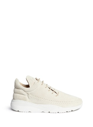 Main View - Click To Enlarge - Filling Pieces - 'Apache Runner' suede sneakers