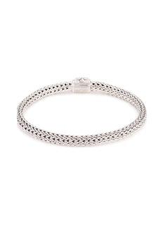John Hardy Tsavorite silver woven chain bracelet