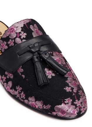 Detail View - Click To Enlarge - Sam Edelman - 'Paris' tassel blossom jacquard slide loafers