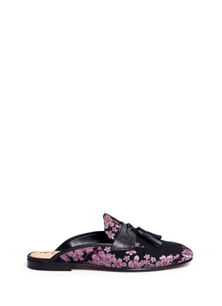 Main View - Click To Enlarge - Sam Edelman - 'Paris' tassel blossom jacquard slide loafers