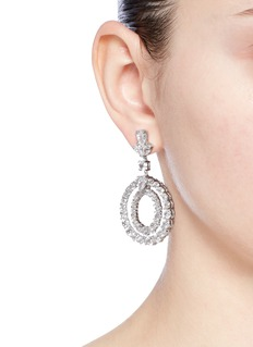 CZ by Kenneth Jay Lane Cubic zirconia concentric circle drop earrings
