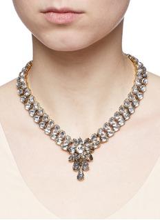 Erickson Beamon'Parlor Trick' 24k gold plated Swarovski crystal necklace