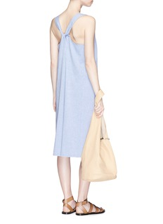 James PerseTwist back garment dyed rompers
