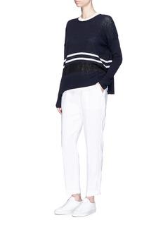 James PerseElastic waist linen canvas pants