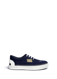Lanvin 'Oxford' crane embroidered canvas sneakers
