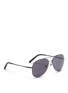 Matthew Williamson Large metal polarised aviator sunglasses