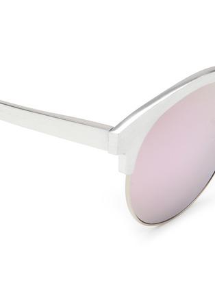 Detail View - Click To Enlarge - Matthew Williamson - Wire rim oversized aluminium mirror sunglasses