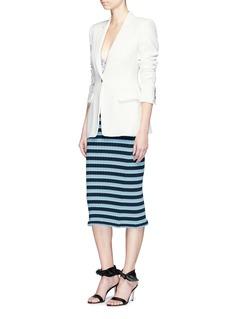 ALTUZARRABlooming拼色条纹罗纹针织铅笔裙