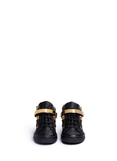 Giuseppe Zanotti Design 'Nicki Junior' croc embossed leather toddler sneakers