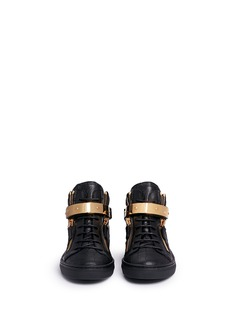 Giuseppe Zanotti Design 'Nicki Junior' croc embossed leather kids sneakers