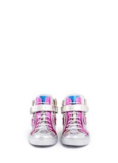 Giuseppe Zanotti DesignDouble zip colourblock metallic leather kids sneakers